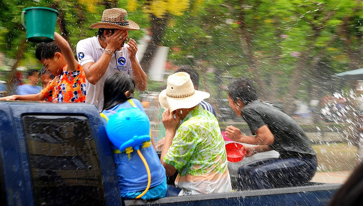 """Songkran 002aa"" by Takeaway - Own work. Licensed under CC BY-SA 3.0 via Commons."