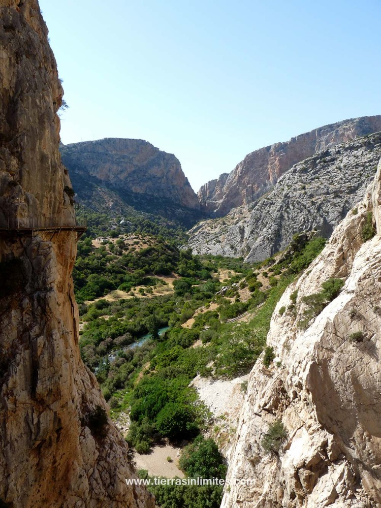El río Guadalhorce ha creado este paisaje