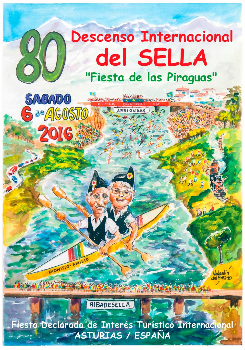 Cartel de la 80 Descenso Internacional del Sella