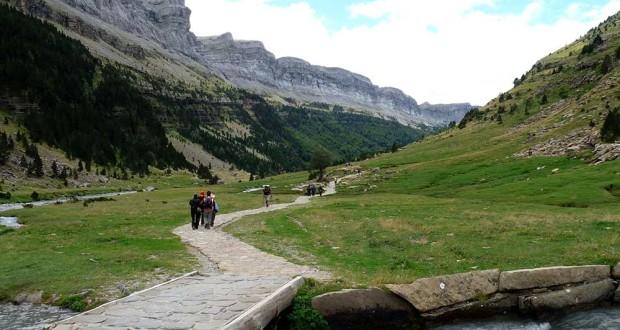 De vuelta por el valle de Ordesa hacia la pradera
