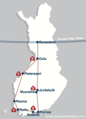 Finlandia itinerario
